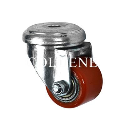 Low Level Castors – Cast Iron Polyurethane – Bolt Hole Castor