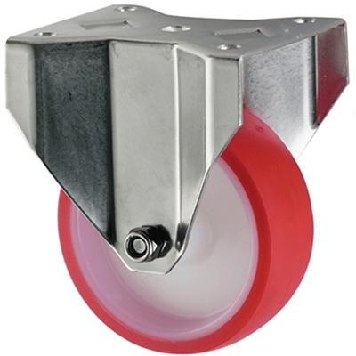 Stainless Steel Polyurethane Castors Fixed