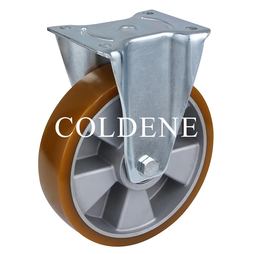 Extra Heavy Duty – Fixed – Aluminium Centre Polyurethane Wheel