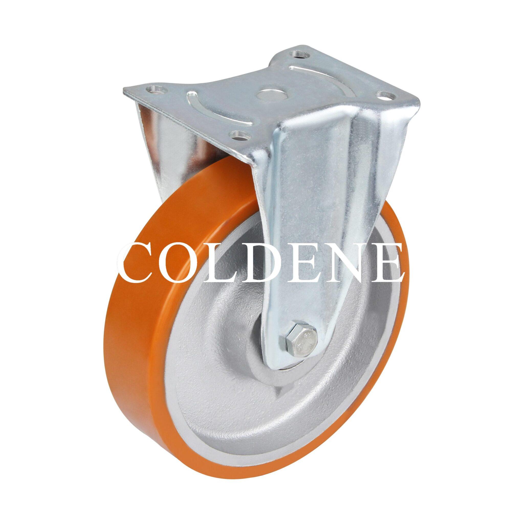 Extra Heavy Duty – Fixed – Cast Iron Polyurethane Wheel
