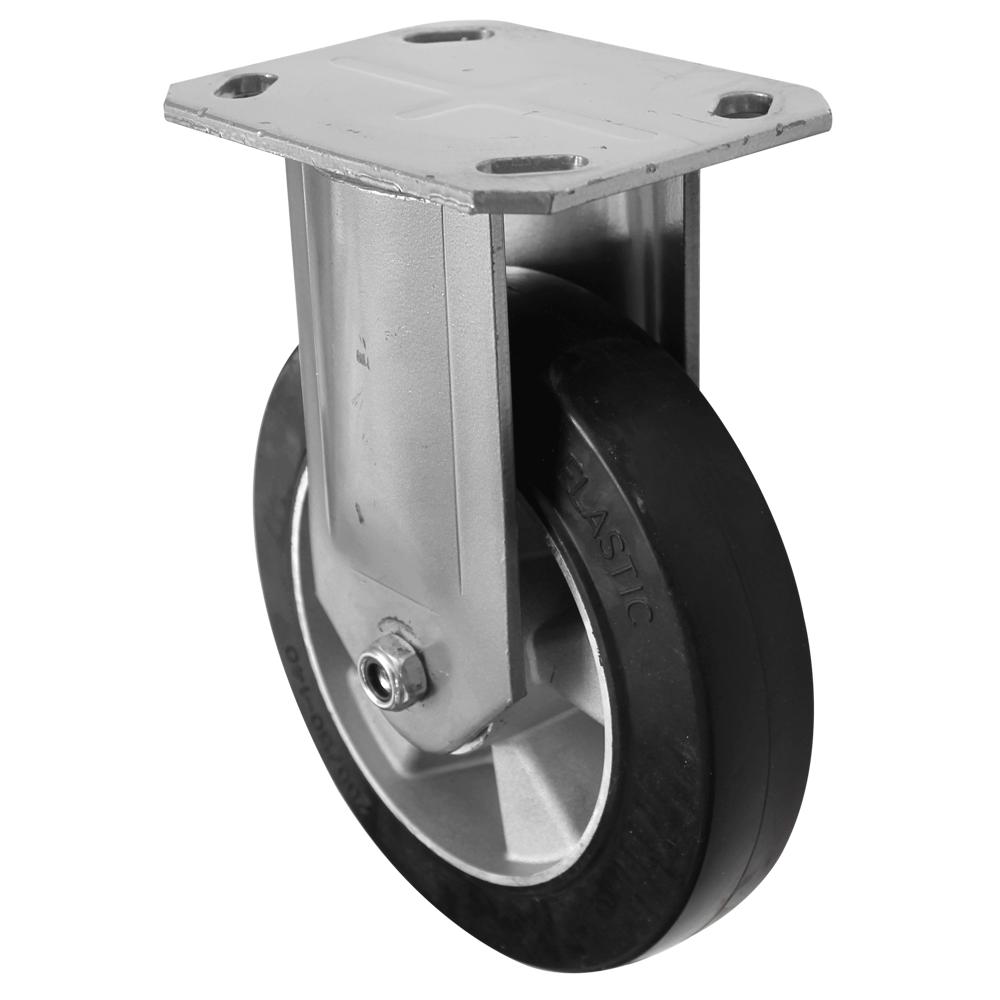 Fabricated Castors – Fixed – Elastic Aluminium Wheel