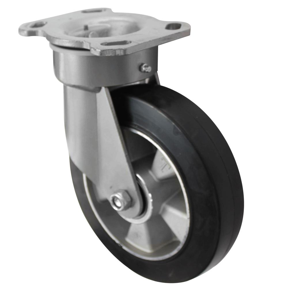 Fabricated Castors – Swivel Top Plate – Elastic Aluminium Wheel