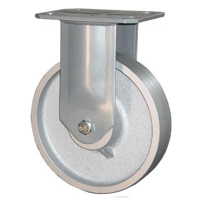 Fabricated Castors – Fixed – Cast Iron Wheel
