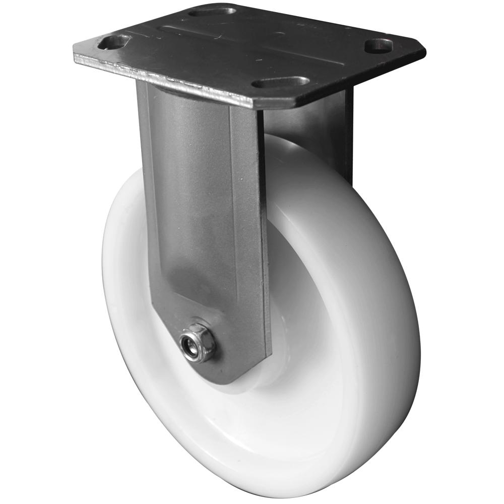 Fabricated Castors – Fixed – Nylon Wheel