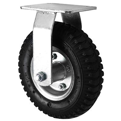 Pneumatic Castors – Fixed – Steel Wheel Core