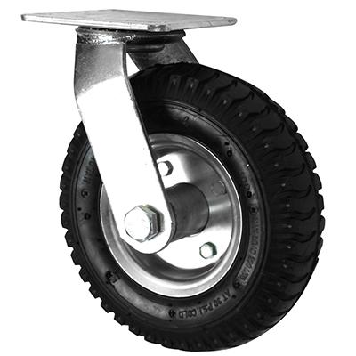 Pneumatic Castors – Swivel – Steel Wheel Core