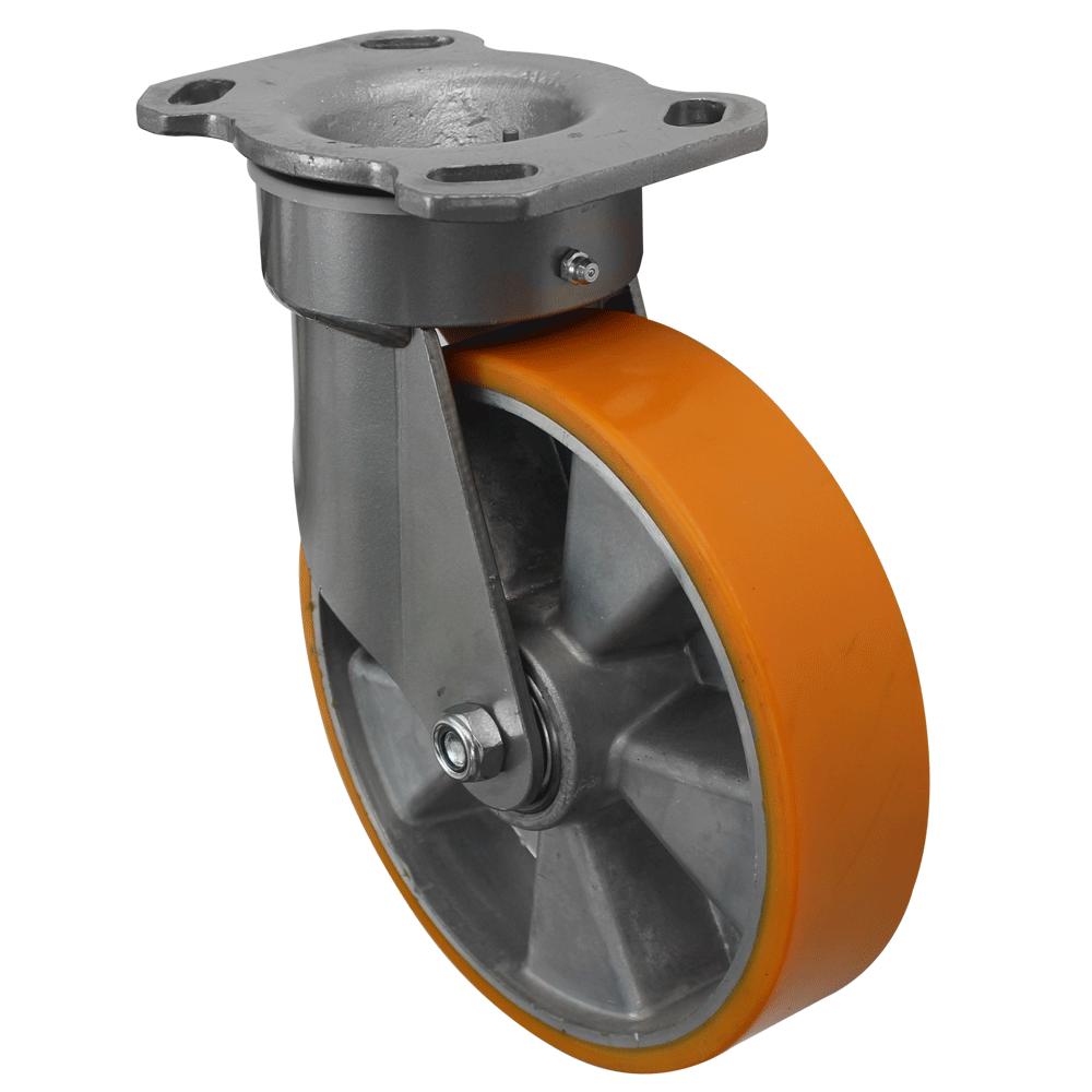 Fabricated Castors – Swivel Top Plate – Aluminium Polyurethane Wheel