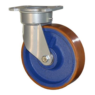 Fabricated Castors – Swivel Top Plate – Cast Iron Polyurethane Wheel