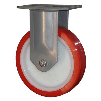 Fabricated Castors – Fixed – Polyurethane Wheel