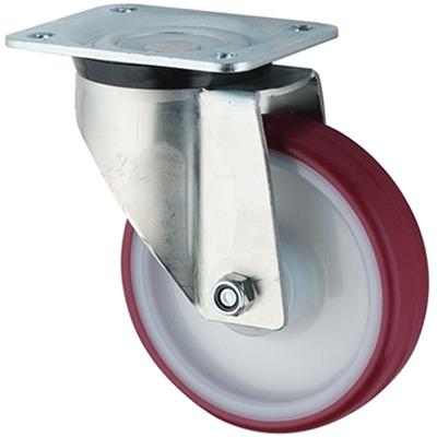 Extra Heavy Duty – Swivel Top Plate – Polyurethane Tyre Nylon Centre Wheel