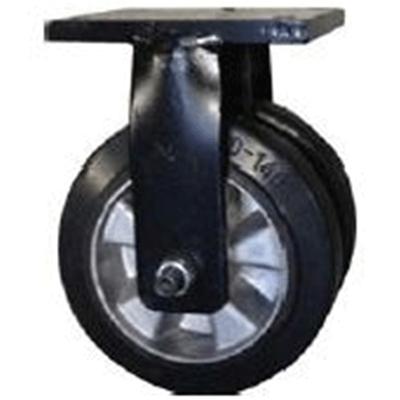 Twin Wheel Fabricated Castors – Fixed – Elastic Aluminium Wheels
