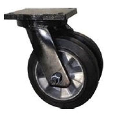 Twin Wheel Fabricated Castors – Swivel – Elastic Aluminium Wheels