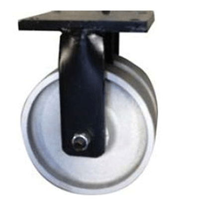 Twin Wheel Fabricated Castors – Fixed – Cast Iron Wheels