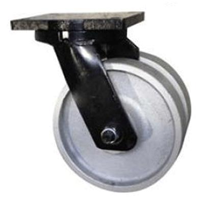 Twin Wheel Fabricated Castors – Swivel – Cast Iron Wheels