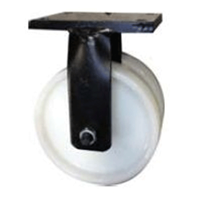 Twin Wheel Fabricated Castors – Fixed – Nylon Wheels