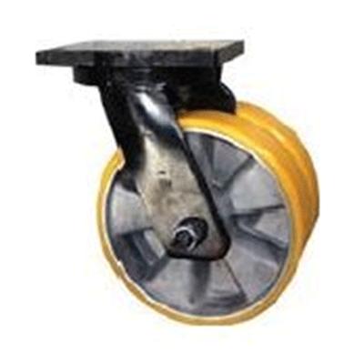 Twin Wheel Fabricated Castors – Swivel – Aluminium Polyurethane Wheel