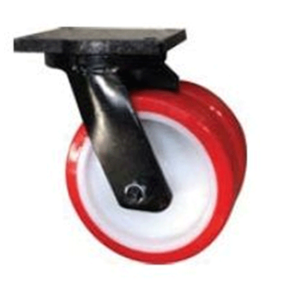 Twin Wheel Fabricated Castors – Swivel – Polyurethane Tyre Nylon Wheel