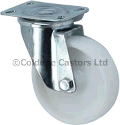 Medium Duty Stainless Steel Nylon Castors Swivel