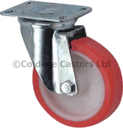 Medium Duty Stainless Steel Polyurethane Castors Swivel