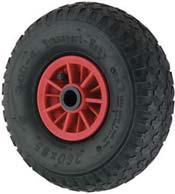 Pneumatic Wheelbarrow Wheels Plastic Centre