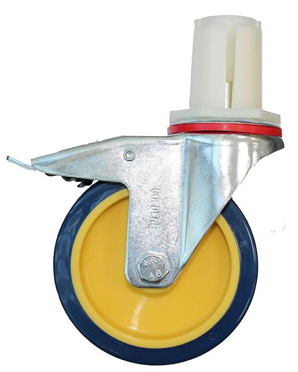 Male Scaffold Castor with Brake Polyurethane wheel