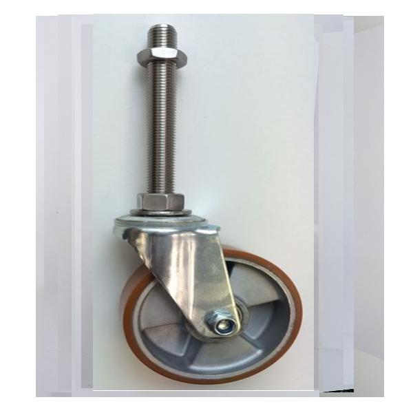Polyurethane Tyre Aluminium Centre Stem Castors – Bolt Hole