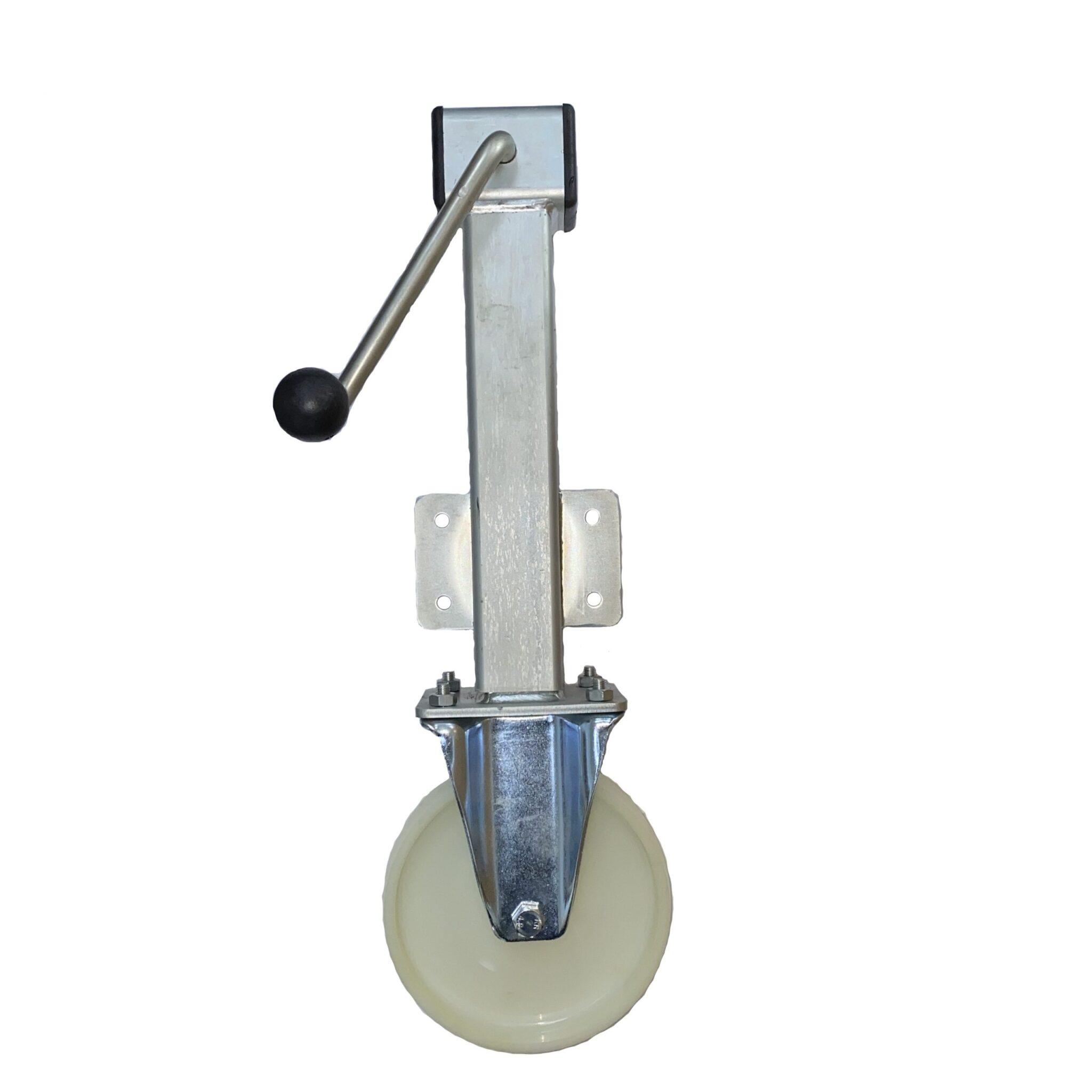 Nylon Wheel – Side Winding Heavy Duty Jacking Castor – Fixed