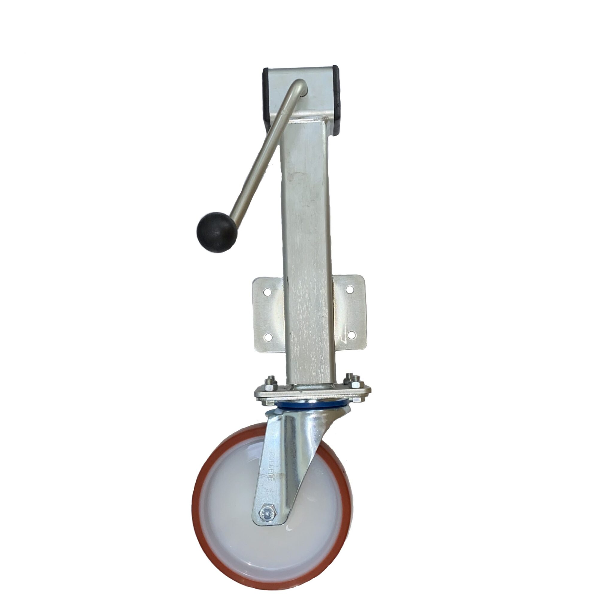 Polyurethane Tyre Nylon Centre Wheel – Side Winding Heavy Duty Jacking Castor – Swivel