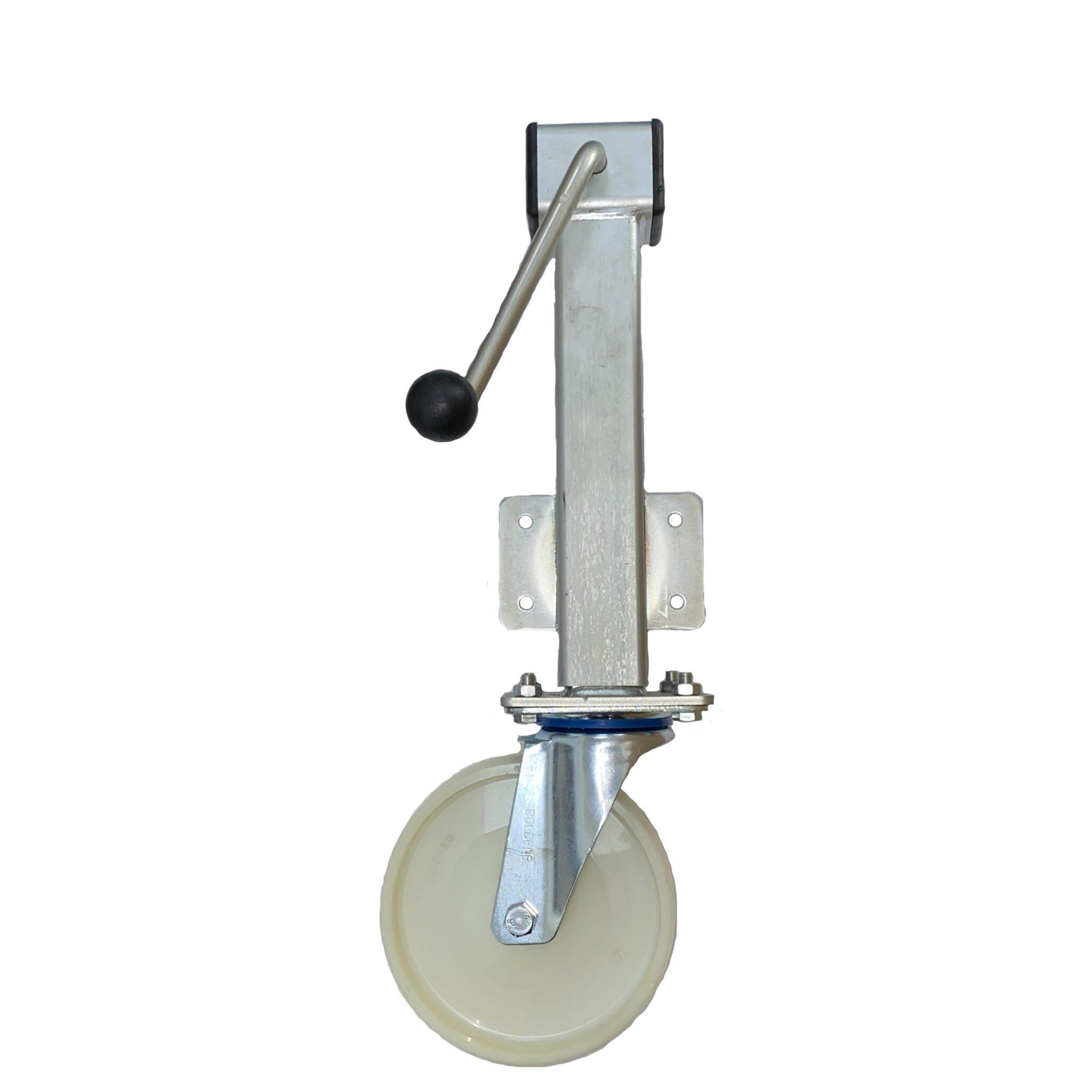 Nylon Wheel – Side Winding Heavy Duty Jacking Castor – Swivel