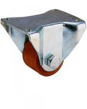 Heavy Duty Low Level Polyurethane Tyre Cast Iron Centre Fixed Castor