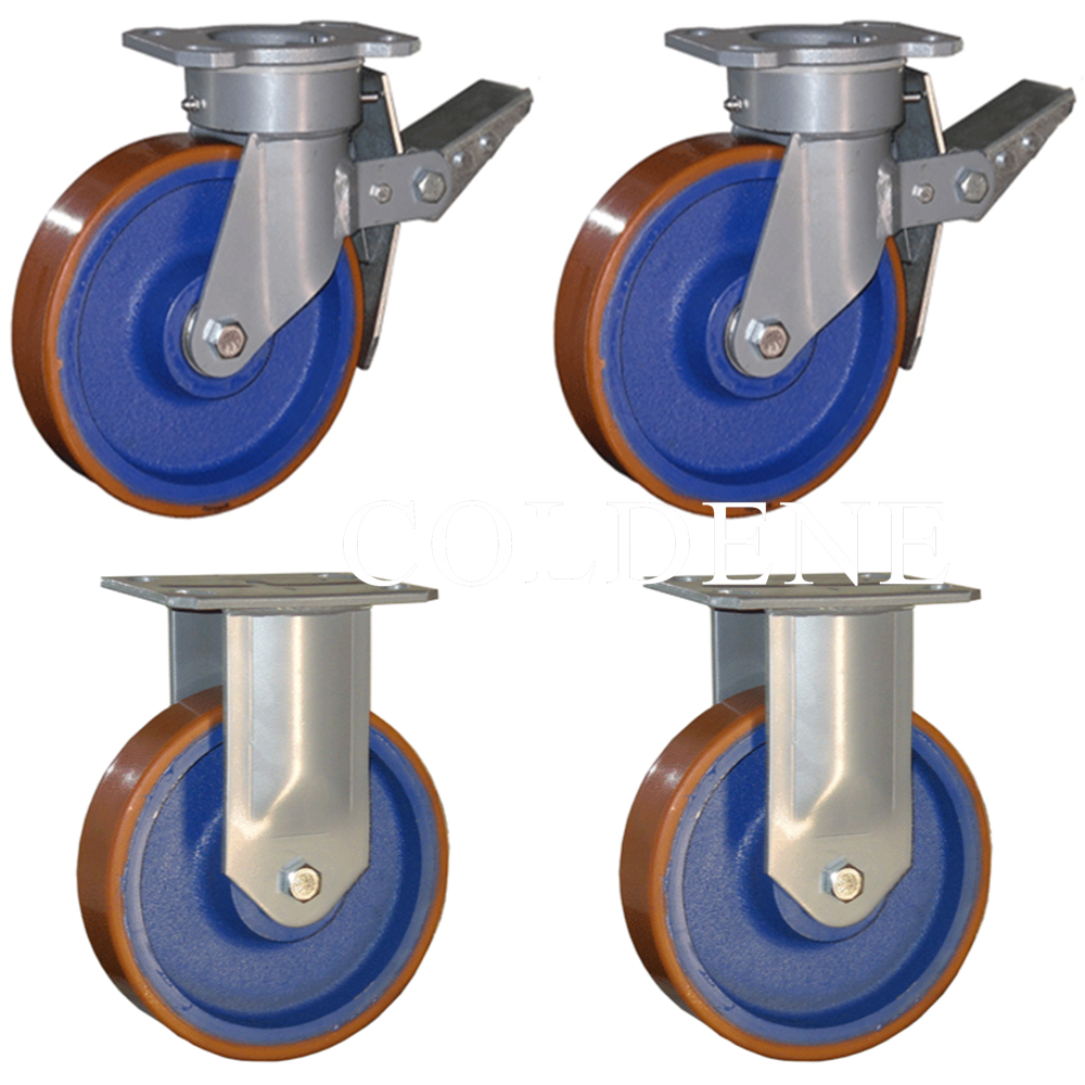 Fabricated Castor Pack 2x Swivel Braked 2x Fixed
